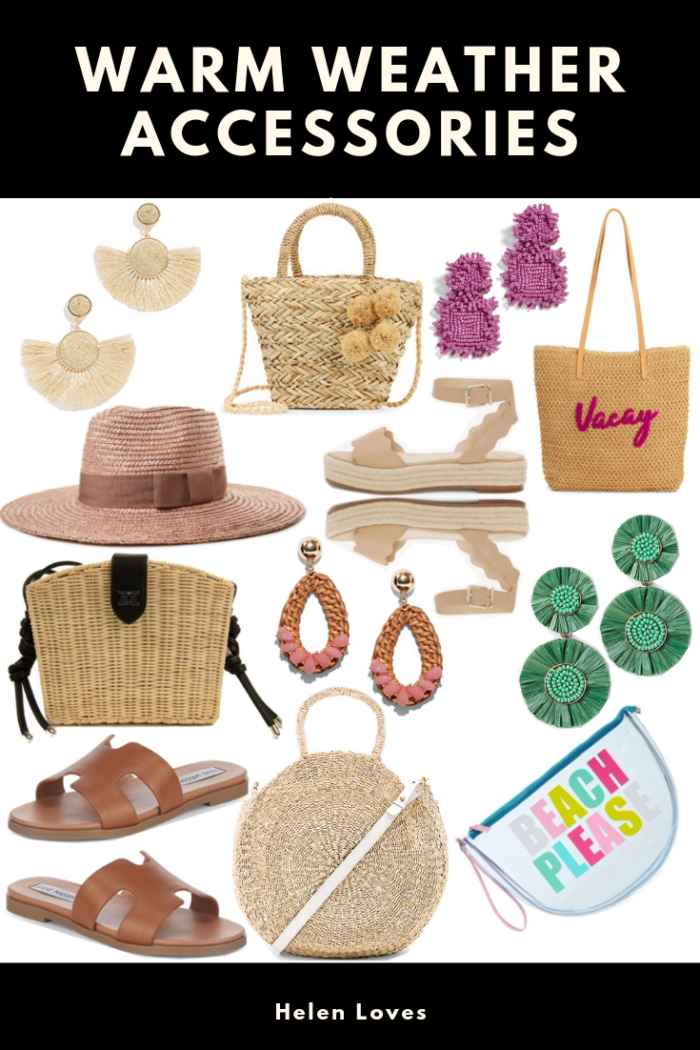 Sharing the cutest accessories for spring & summer - hats to bags that are perfect for warmer temps! // Helen Loves